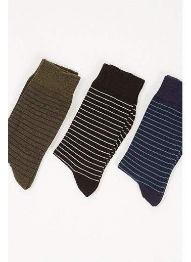 Manche Çorap Renkli
